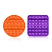 Push Pop Bubble Sensory Fidget Toys, Silicone Stress Reliever Toy for Kids & Adults, Anxiety Relief Toys Help Restore Emotions (Purple & Orange)