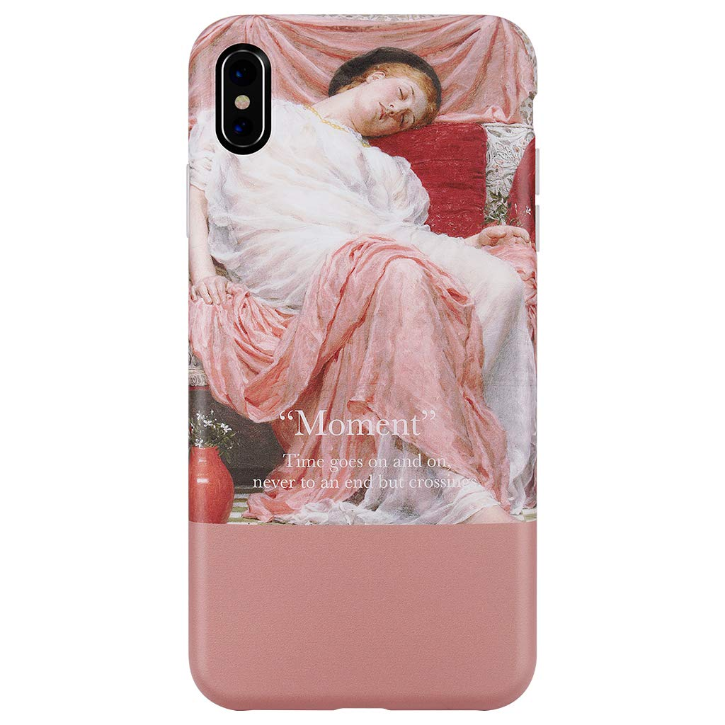 GOLINK Case for iPhone Xs MAX,Oil Painting Series Matte Slim-Fit Ultra-Thin Anti-Scratch Shock Proof Dust Proof TPU Gel Case for iPhone Xs MAX 6.5 inch(Asleep Girl)