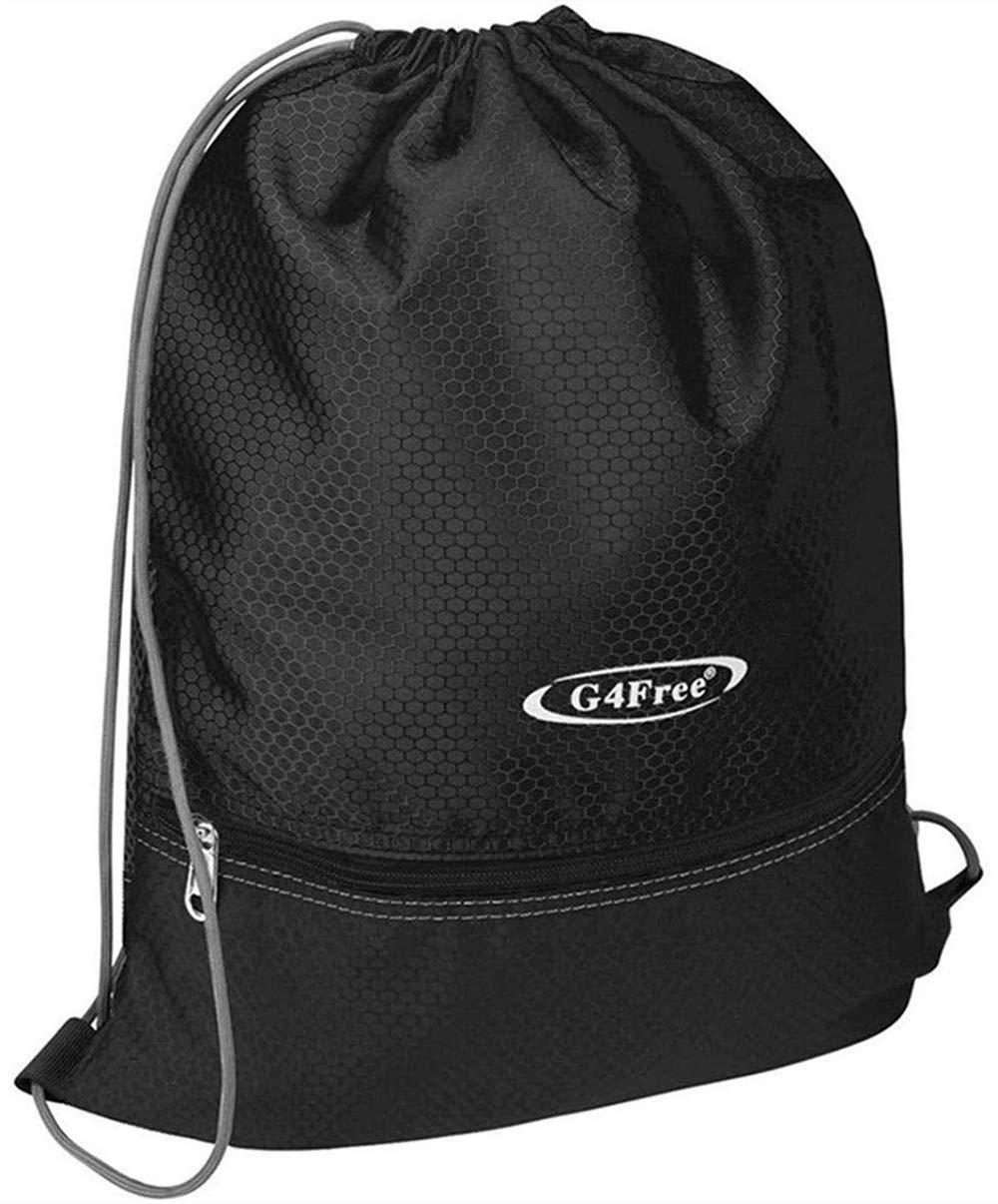 G4Free Drawstring Backpack 15L&20L Cinch Bag String Backpack Gym Bag for Men Women Nylon