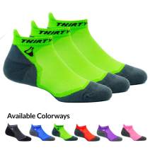 Thirty48 Ultralight Athletic Running Socks for Men and Women with Seamless Toe, Moisture Wicking, Cushion Padding