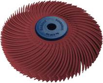 """Dedeco Sunburst - 3"""" TC 6-PLY Radial Bristle Discs - 1/4"""" Arbor - Industrial Thermoplastic Rotary Cleaning and Polishing Tool, Standard 220 Grit (1 Pack)"""
