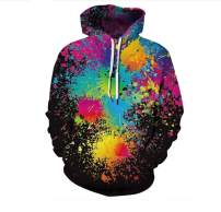 Plustrong Unisex 3D Casual Pullover Hoodie Hooded Sweatshirts