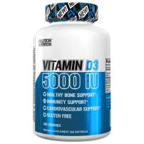 Evlution Nutrition Vitamin D3, 5000 IU High Potency, Bone and Joint Support, Heart and Immune System Health, Non-GMO and Gluten-Free, Value Size (360 Servings)