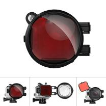 Fantaseal Professional 2-in-1 Dive Lens Combo Diving Lens Filter Underwater Lens Filter, Red Filter + 16X Macro Lens w/Anti-Slip Safety Lock Compatible with Hero 4/3+ (for Blue/Tropical Water)