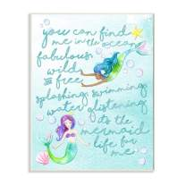Stupell Industries Mermaid Life For Me Painting Wall Plaque, 10x15, Design By Artist Erica Billups