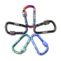 DYZD Gear Aluminum Alloy D Shape Buckles D Ring Keychains Screw Locking Spring Clip Hook Keyring Clip Hook