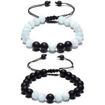 Cat Eye Jewels Long Distance Matching Couple Friendship Bracelets 8mm Natural Stone Healing Beads