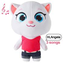 "Cat Plush Toy Angela Fluffy Toy Dolls Repeats What You Say Electronic Cat Plush for Boys Girls Baby Cat Toys for Kids Talking Angela Talk Back Plush Toy (Talking Angela, 11.8"")"