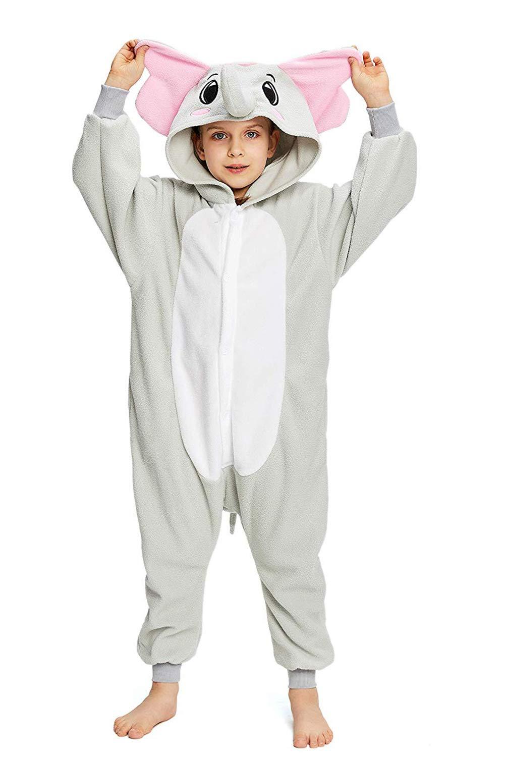 CANASOUR Kids Elephant Halloween Onesie Animal Unisex Pajamas Children (4-10T)
