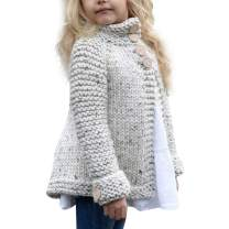 Toddler Baby Girls Cute Autumn Button Knitted Sweater Cardigan Warm Thick Coat Clothes