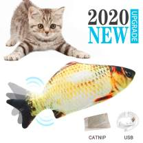 I-SHUNFA Interactive Swimming Robot Fish Toy for Cat and Dog with LED Light, Activated in Water Magical Electric Toy Stimulate Your Pet's Hunter Instincts Best Gift for Your Pets