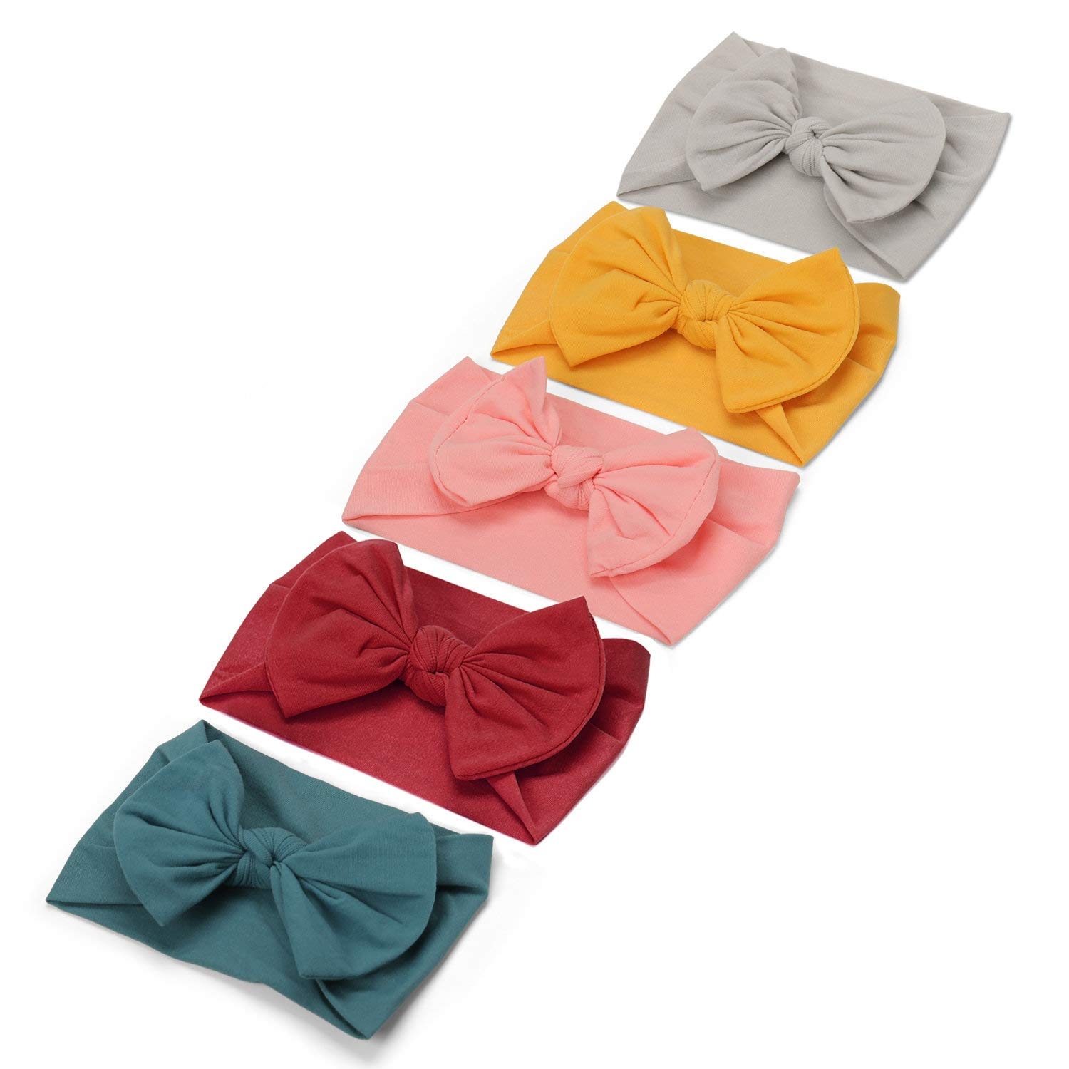Baby Girl Headbands Newborn Hairbands-Infant Soft Knitting Headwraps Toddler Bowknot Knotted Hair Accessories, Pack of 3