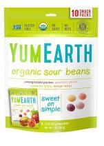 YumEarth Organic Sour Beans, 10 Snack Packs Per Bag, 12 pack