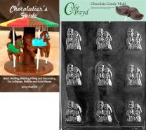 "Cybrtrayd""Bride and Groom Mints"" Wedding Chocolate Candy Mold with Chocolatier's Guide"
