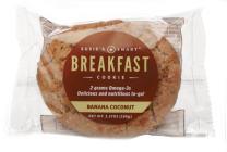 Susie's Smart Breakfast Cookie -- Banana Coconut (Box of 18)