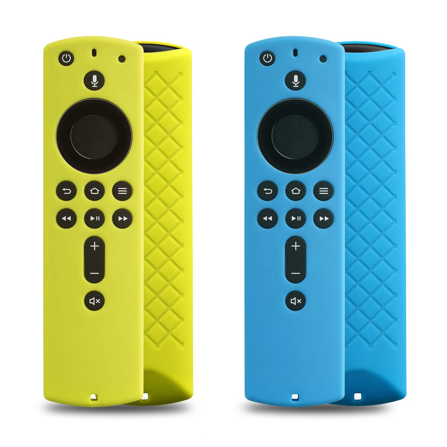 [2 Pack] Cover for Fire Stick Remote - Case for 2nd Gen Alexa Voice Remote (Blue and Chartreuse)