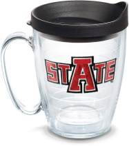 Tervis 1135934 Arkansas State Red Wolves Tumbler with Emblem and Black Lid 16oz Mug, Clear