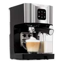 Klarstein BellaVita Coffee Machine with Self-Cleaning System, 3-in-1 Function for Espresso, Cappuccino and Latte Macchiato, 20-Bar Pump Pressure, 1450 W, 1.4L Water Tank, Removable Drip Tray, Grey