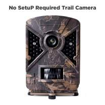 "Narrogat No Setup Trail Camera 12MP 1080P No Glow Deer Hunting Game Camera Cam with Night Vision Motion Activated IP66 Waterproof 2.4"" LCD for Outdoor Wildlife, Garden, Animal and Home Security"