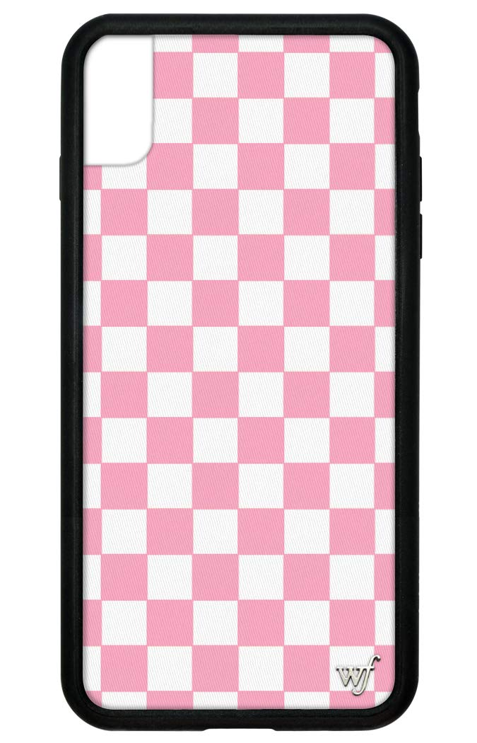Wildflower Limited Edition Cases for iPhone Xs Max (Pink Checkers)