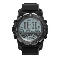 Multisport GPS Hiking Sport Watches for Men Military Watches with Compass, Features GLONASS, Pedometer, Barometer, Sleeping Monitor, Black