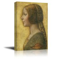 "wall26 - Portrait of a Young Fianc¨¦e by Leonardo da Vinci - Canvas Print Wall Art Famous Oil Painting Reproduction - 32"" x 48"""