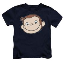 Popfunk Curious George Stitched Face Juvenile T Shirt & Stickers