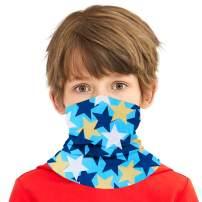Boys Girls Bandanas Neck Gaiter Kids Face Mask Magical Multi Funtion UV Protection Headband