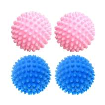 ESALINK Laundry Dryer Balls Hard Washing Balls Replace Drying Washing Ball, Alternative to Fabric Softener Reusable (pink&blue) 4Pcs