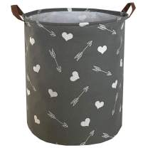 Sanjiaofen Large Storage Bins,Canvas Fabric Laundry Basket Collapsible Storage Baskets for Home,Office,Toy Organizer,Home Decor … (Heart Arrows)