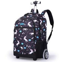 Rolling Backpack For Kids, Trolley Bags For Kids School Travel Laptop Books Multifunction Wheeled Backpack Luggage, G