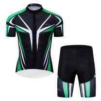 Men's Tron Cycling Jersey Set Bicycle Shirt and Bib Shorts Kit Sports Trisuit