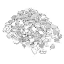 onlyfire Reflective Fire Glass for Natural or Propane Fire Pit, Fireplace, or Gas Log Sets, 10-Pound, 1/2-Inch, Platinum