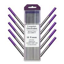 "WeldingCity 10-pk TIG Welding Tungsten Electrode Tri-Element Non-Radioactive (Purple) 3/32"" x 7"""