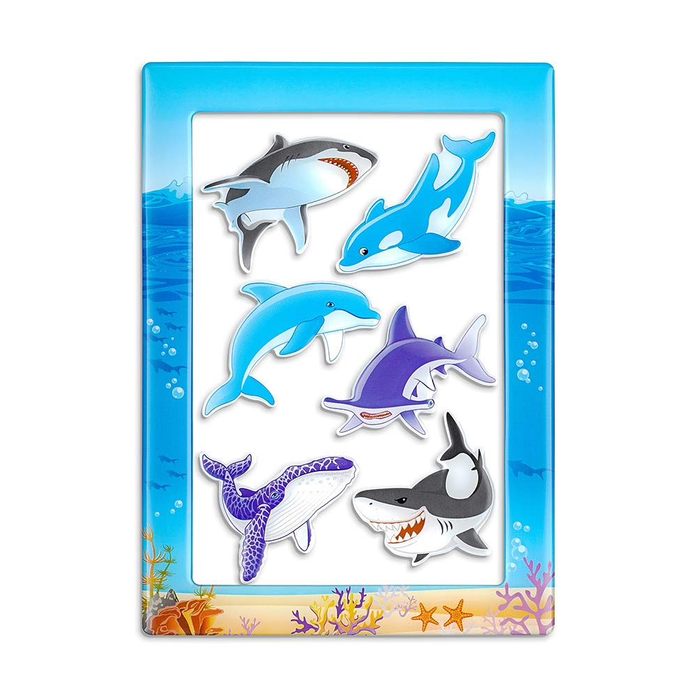 Fridge Magnets Fridge Stickers,Dolphin Refrigerator Magnets, Pattern Decoration Kitchen Magnets,Small Funny Magnets for Home School Classroom Whiteboard Office Coffee Shop Message(6pcs Dolphin)