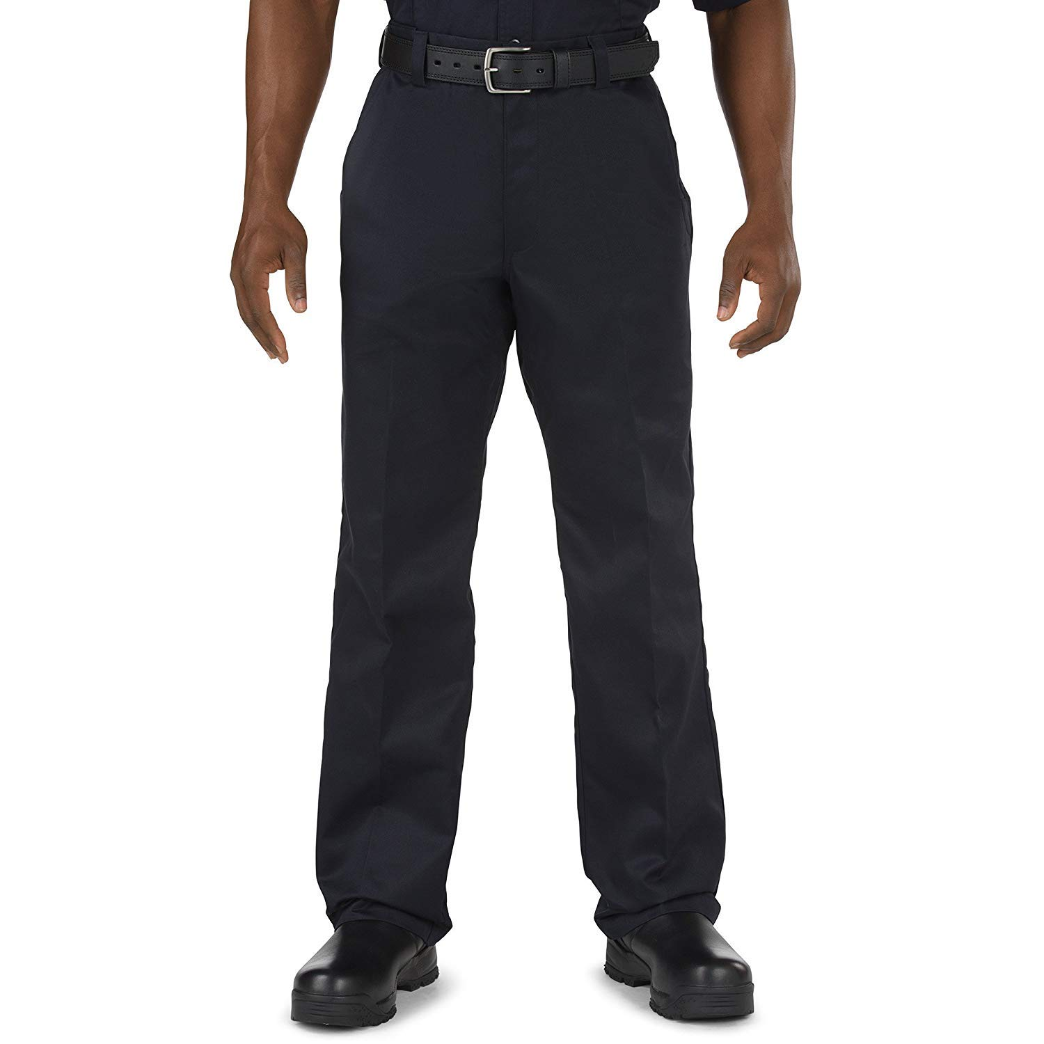 5.11 Tactical Men's Company Work Casual Pants, 100% Cotton Twill Wrinkle-Resistant Fabric, Fire Navy Blue, Style 74398