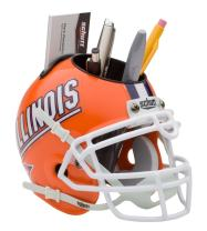 Schutt NCAA Illinois Fighting Illini Football Helmet Desk Caddy