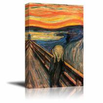 "wall26 - The Scream by Edvard Munch - Canvas Art Wall Art - 18"" x 12"""