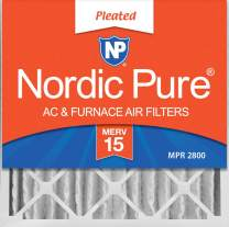 Nordic Pure 24x24x4 MERV 15 Pleated AC Furnace Air Filter 1 Pack