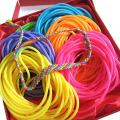 Adorox 144 Bracelets Neon Jelly Bracelets Rainbow Colors Party Favors Birthday Gifts Prizes Assorted (Assorted (144 Bracelets))