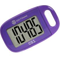 OZO Fitness CS1 Easy Pedometer for Walking | Step Counter with Large Display and Lanyard