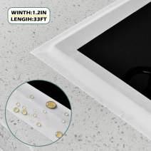 Caulk Strip PMMA Self Adhesive Waterproof Sealing Tape for Bathtub Bathroom Shower Toilet Kitchen and Wall Caulk Tape (59/50 Inch Width x 33Feet Length(White))