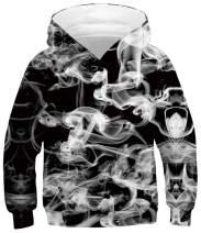 RAISEVERN Boys Girls Hoodie 3D Printed Casual Novelty Pullover Hooded Sweatshirt with Pocket 6-16 Years