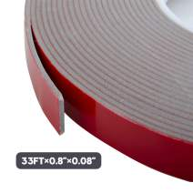 """VHB Tape, Heavy Duty Mounting Tape Adhesive, Foam Tape for Led Strip Lights, Home and Office Decoration, 3M Double Sided Tape (33Ft x 0.8"""" x 0.08"""")"""