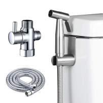 atalawa Bidet Sprayer For Toilet, Handheld Shattaf Bidet Spray for Toilet, Stainless Steel Cloth Diaper Sprayer Kit, Adjustable Water Pressure Bidet Attachment for Washing