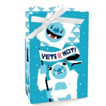 Big Dot of Happiness Yeti to Party - Abominable Snowman Party or Birthday Party Favor Boxes - Set of 12