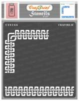 CrafTreat Celtic Border Stencils for Painting on Wood, Canvas, Paper, Fabric, Floor, Wall and Tile - Celtic Borders 2-6x6 Inches - Reusable DIY Art and Craft Stencils for Borders - Stencil Celtic
