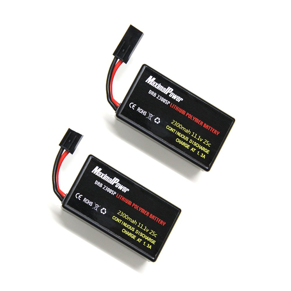 MaximalPower Gifi Power LiPo Battery or Charger for Parrot AR.Drone 2.0 & 1.0 Quadricopter (2 Batteries 2300mAh)