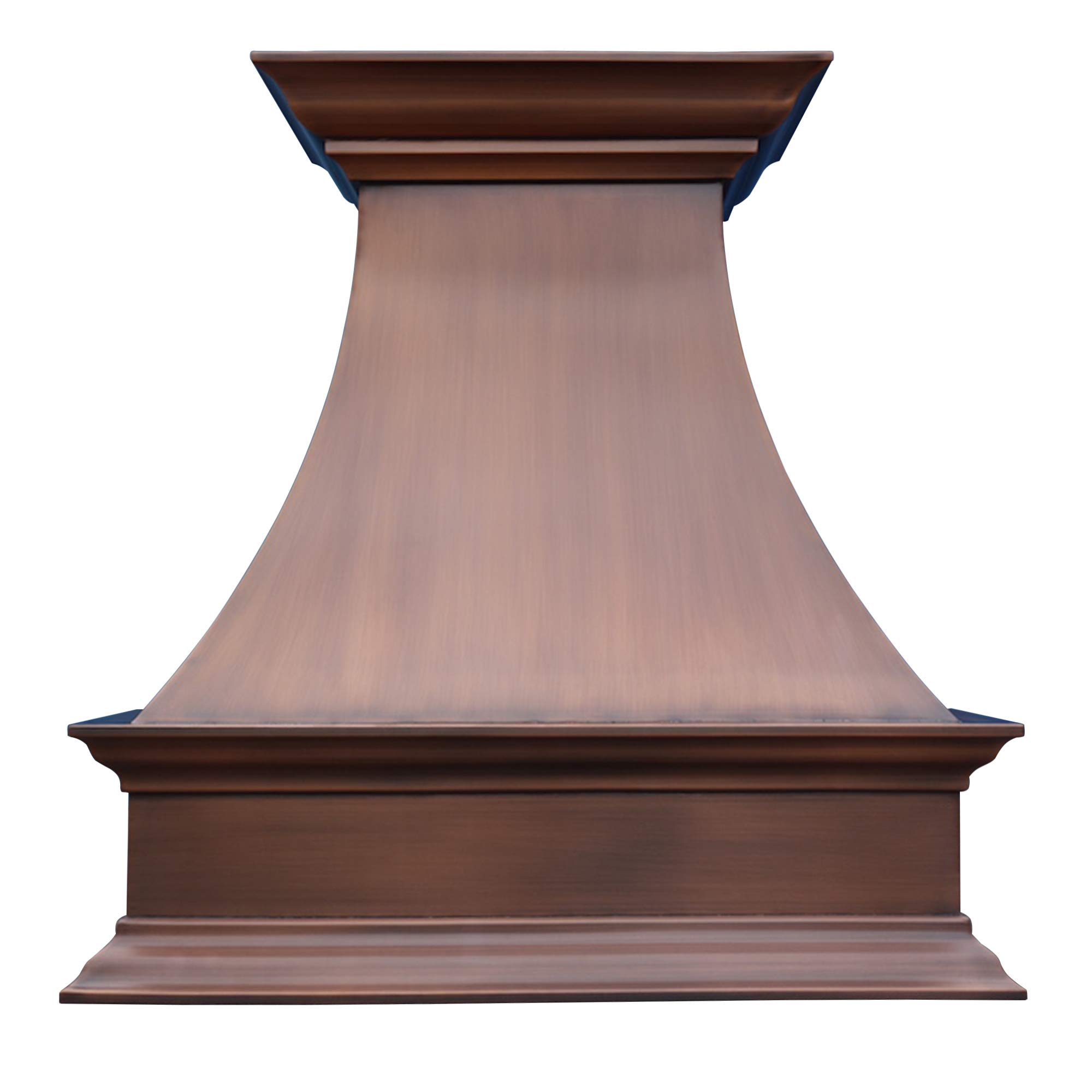 "SINDA Natural Beautiful Copper Kitchen Hood, Handcrafted by Skilled Artisan, Comes with High Air Flow Motor Fan, 48""Wx42""H Island Mount, Smooth-Natural Copper, H17SC-SNI4842"