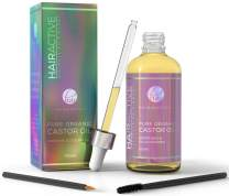 Hairworthy - 100% Pure, Organic, Cold-Pressed, Natural Castor Oil for Instant Hair Growth, Boost Eyelashes & Eyebrows. Hexane-Free Premium Oil For Skin & Nails. Applicator Kit Included.
